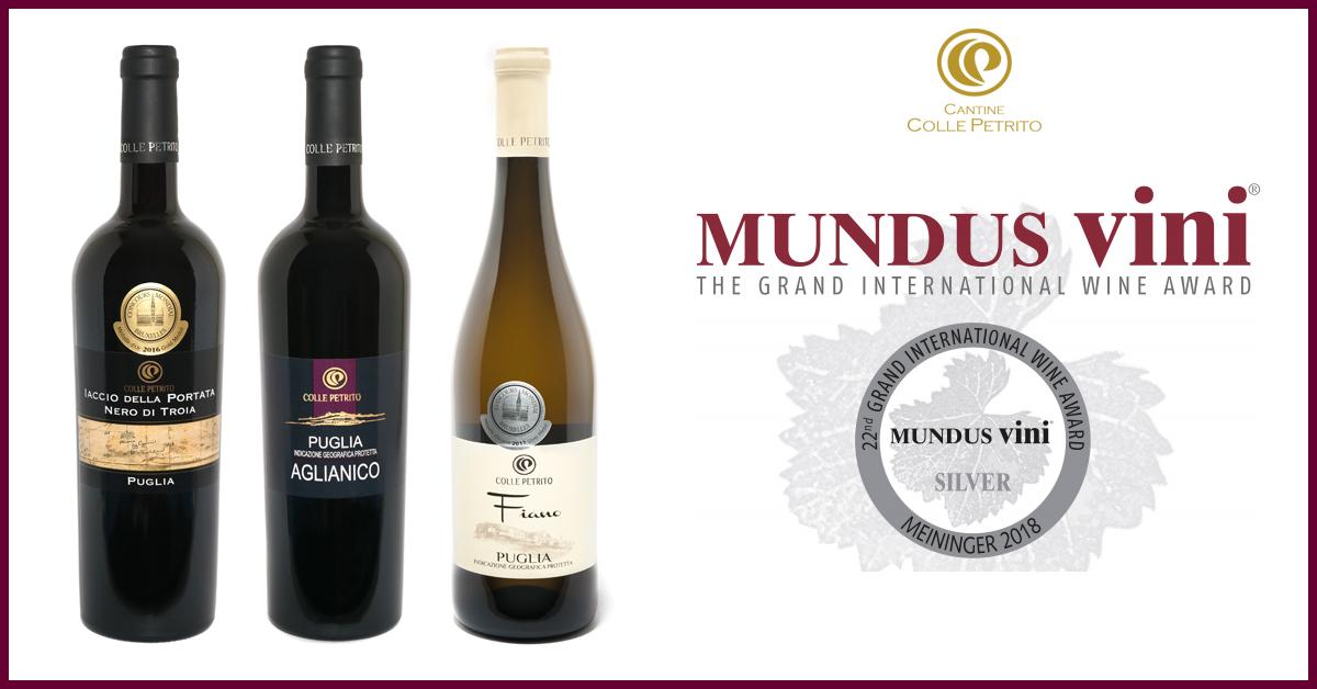 Mundus Vini 2018: tre le medaglie d'argento